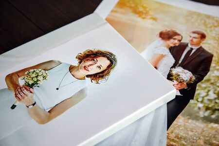 Photo canvas prints. Sample of stretched photography of woman with gallery wrapping 免版税图像