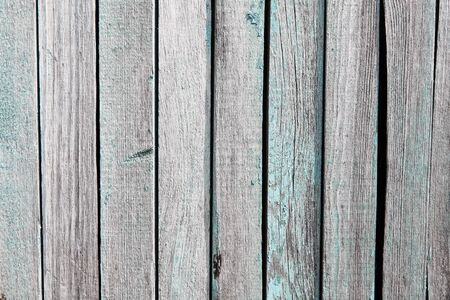 Wooden wall background. Old blue color boards texture