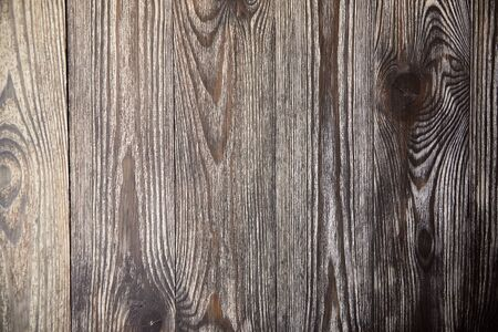 Wooden brown background, natural texture. Empty painted boards. Wood pattern on surface
