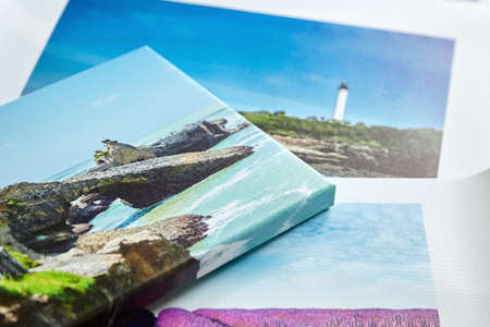 Photo canvas prints, colorful landscape photo printed on canvas. Photography stretched with gallery wrap Standard-Bild