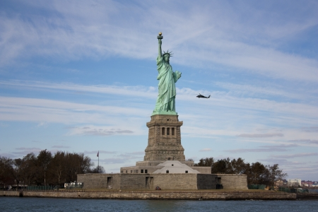 hurricane sandy: New York - Statue of Liberty after Sandy s hurricane