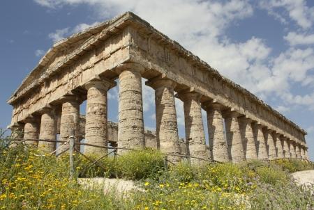 doric: Segesta - El templo d�rico Foto de archivo