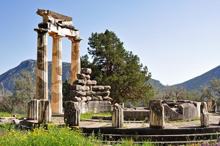 athena: Aspect of the Tholos of Athena Pronoia near Delphi Stock Photo