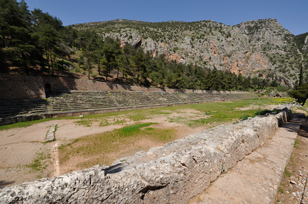 delphi: The stadium at Delphi where the Pythian games were held