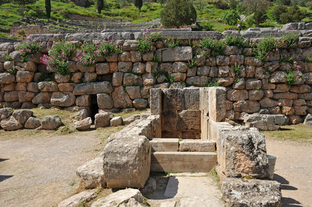 oracle: Passageway underneath the temple of Apollo to oracle Pythia ethylene seep at Delphi