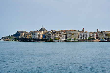 kerkyra: View of the city of Corfu from the sea