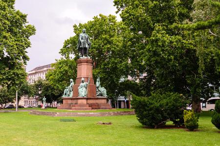 szechenyi: Statue of Istvan Szechenyi at Szechenyi Istvan square Stock Photo