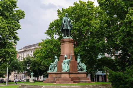 szechenyi: Statue of Istvan Szechenyi at Szechenyi Istvan square Editorial