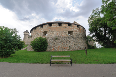 bastion: The great rondella, a medieval bastion at Buda castle Editorial
