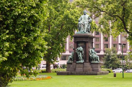 szechenyi: Statue of Ferenc Deak at Szechenyi Istvan square Stock Photo