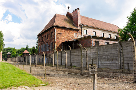 Auschwitz I - Birkenau theater building served as a warehouse for prisoners confiscated belongings and also a storage site for Zyklon B.