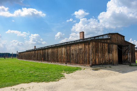 quarantine: Auschwitz II - Birkenau wooden barracks at Sector IIa used for quarantine of men Editorial