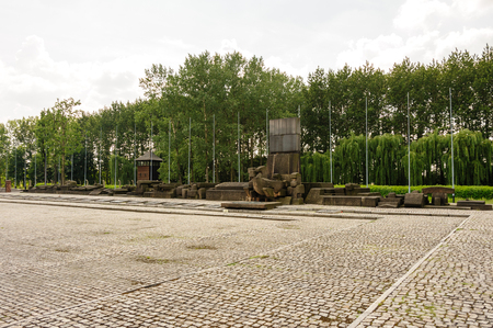 birkenau: Auschwitz II - Birkenau International Monument to the Victims of Auschwitz at the end of the rail tracks