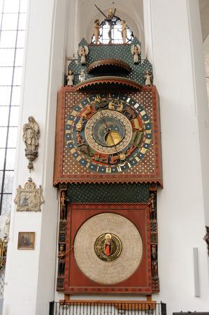 hans: GDANSK, POLAND - JULY 6, 2009: Gdansk Astronomical Clock by Hans Duringer in St. Marys Basilica