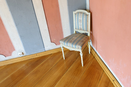stare miasto: TORUN, POLAND - JULY 7, 2009: A beautiful rococo styled chair in a burgher house