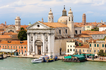 fortitude: VENICE, ITALY - JULY 10, 2009: Santa Maria del Rosario church as viewed from Canale della Giudecca Editorial