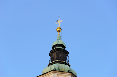 spires: Closeup of one of the belfry spires of St. Nicholas Cathedral