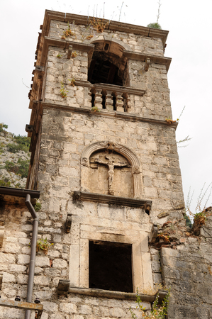 francis: Saint Francis bell tower at the old town of Kotor in Montenegro