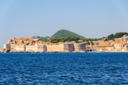 ragusa: Dubrovnik old town as viewed from the sea to the east