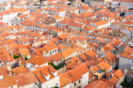birds eye: Birds eye view of the old city od Dubrovnik from the northern walls