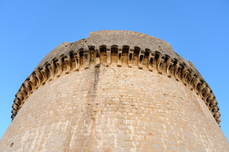 cornice: Close-up of the cornice of the Minceta tower fort in Dubrovnik