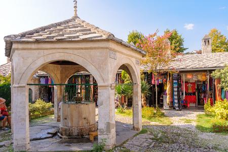 mehmed: MOSTAR, BOSNIA AND HERZEGOVINA - SEPTEMBER 1, 2009: Koski Mehmed Pasha mosque fountain Editorial