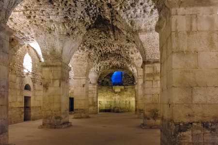 substructure: SPLIT, CROATIA - SEPTEMBER 2, 2009: Diocletians Palace substructures of vaulted ceilings.
