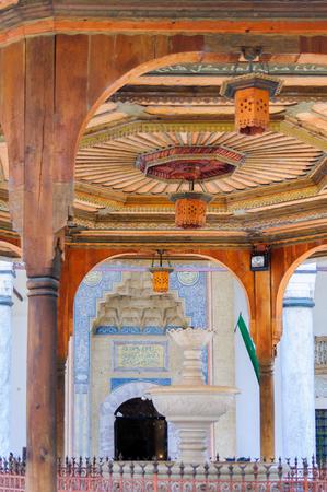 sarajevo: Gazi Husrev-beg mosque entrance and water fountain in Sarajevo, Bosnia and Herzegovina Editorial