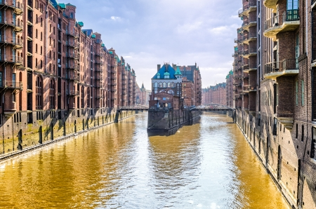 The historic Speicherstadt in Hamburg, Germany photo