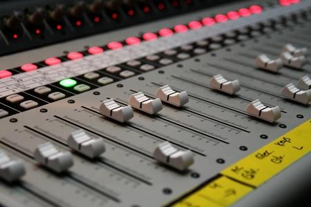 A sound board 스톡 콘텐츠
