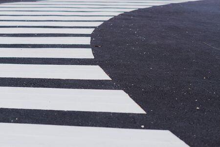 Zebra crossing track. Safety road crossing concept