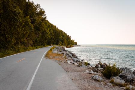 Bicycle Highway in Michigan on Mackinac Island