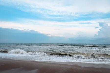 Waves crashing in on a North Carolina Beach