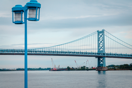 Bridge leading to New Jersey from Philadelphia Pennsylvania