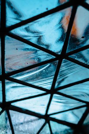 Creative geometric glass art Stock Photo