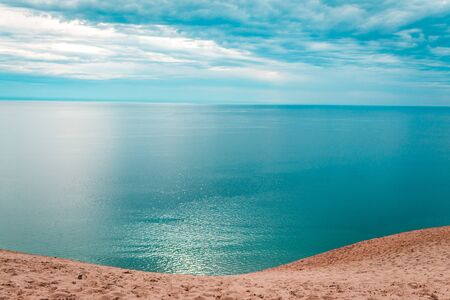 Beautiful day at the Sleeping Bear Dunes National Lakeshore Stock fotó