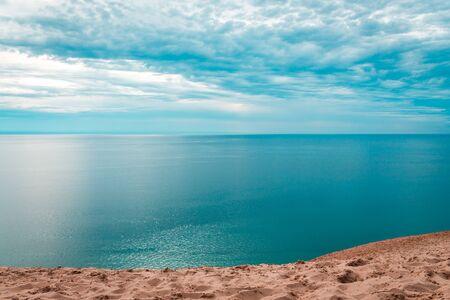 Beautiful overlook of Lake Michigan from Sleeping Bear Dunes National Lakeshore