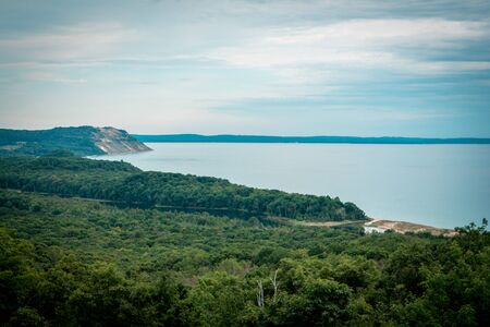 North Manitou Island from the top of the Sleeping Bear Dunes National Lakeshore