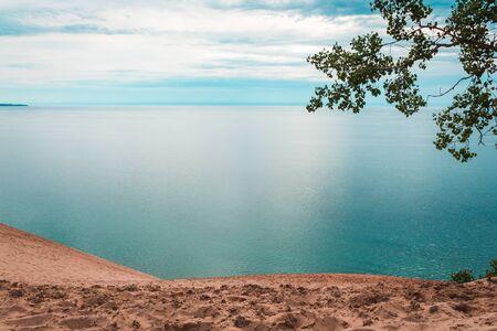 Overlook of Lake Michigan Sleeping Bear Dunes National Lakeshore