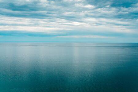 Shot of Lake Michigan from the Sleeping Bear Dunes in Michigan Stock fotó