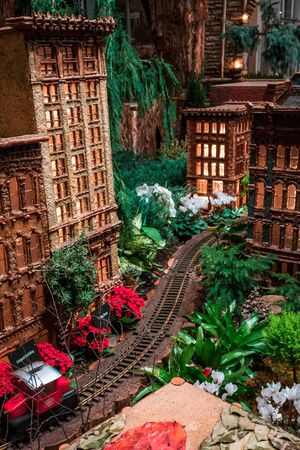 Model of a downtown Grand Rapids MI the train garden at the Frederik Meijer Gardens