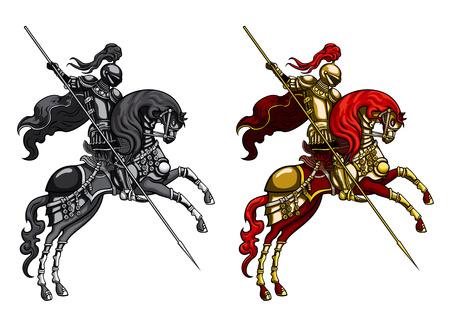 Meister Ritter auf einem Pferd Standard-Bild - 24528562