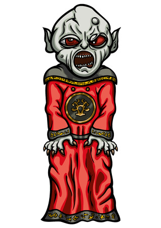malevolent: Illustration evil masters acolyte dressed in cultist robe