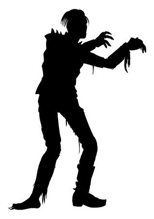 homem zombie ilustra