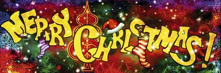 título Feliz Natal com meias, árvore decorativa e flocos de neve no fundo festivo. texto feito à mão é meu próprio projeto.