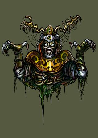 Guerreiro fantasma da fantasia da ilustra Banco de Imagens