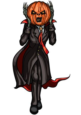 Illustration Halloween Pumpkin Head Jack. Imitation the Scream character Zdjęcie Seryjne