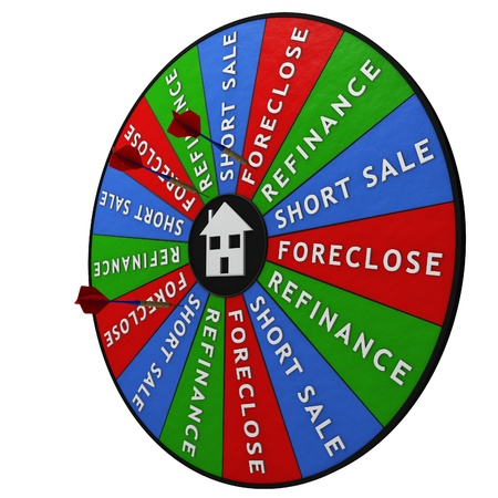 Dartboard decision tool for housing crisis photo