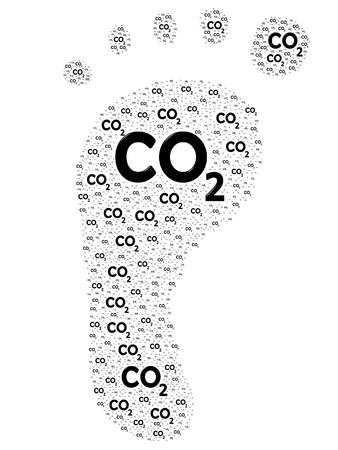 Carbon footprint concept illustration illustration