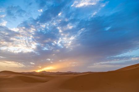 Sahara Desert Sunrise Stok Fotoğraf